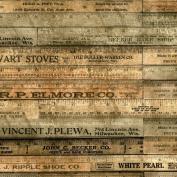 Freespirit Fabrics Eclectic Elements-Tim Holtz 110cm Wide Rulers 100-Percent Cotton, Brown, 8-Yard