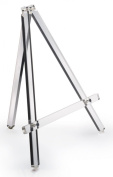 Table Easel, 33cm W x 36cm H, Clear Acrylic, Portable, Folding, 1.3cm Shelf Depth
