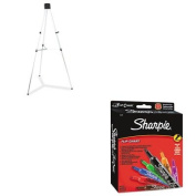 KITQRT55ESAN22478 - Value Kit - Quartet Heavy-Duty Telescoping Tripod Easel (QRT55E) and Sharpie Flip Chart Markers
