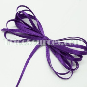 "Craft Decoration Solid Satin Ribbon Double Faced 1/8""(3mm) x 100YDS Purple - B4001PP"