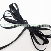 "Craft Decoration Solid Satin Ribbon Double Faced 1/8""(3mm) x 100YDS Black - B4001BK"