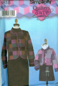 Simplicity 5818 ©2002 Quilters Only Child's and Misses Quilted Jackets; Sizes Child (22-27) Misses