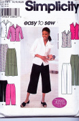 Simplicity 9158 ©2000 Misses Shirts, Pants, and Skirt; Sizes 14-20