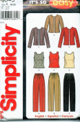 Simplicity 5845 ©2002 Misses Pants, and Knit Top; Sizes 10-22