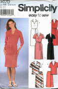 Simplicity 7070 ©2002 Misses Dress or Top and Skirt; Sizes 8-14