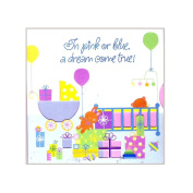 "Party Express ""In Pink or Blue a Dream Come True!"" Baby Shower Invitations 48 Count"