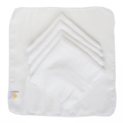 Satsuma Designs Muslin Washcloths, White