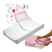 Summer Infant Contoured Changing Pad with Cover & Nursery Care Kit, Girl