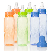 Evenflo Feeding Classic Twist Tinted Bottles, Green/Blue/Orange, 240ml