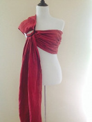 Pure Linen 'Crimson Red' Ring Sling Baby Carrier