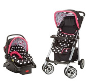Disney Baby Minnie Mouse Coral Flowers Saunter Sport LC-22 Travel System stroller and QuickClick Car Seat