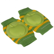 Baby Elbow Knee Toddler Pad to Protect Delicate Skin Stumping Around Stripe Green & Yellow Apple Pad