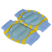 Baby Elbow Knee Toddler Pad to Protect Delicate Skin Stumping Around Stripe Blue & Yellow