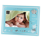 """Hello Our Pretty Angel"" Blue Glass Photo Frame"