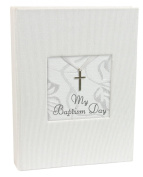 Stephan Baby Inspirational Keepsake Mini Photo Album with Silver Cross, My Baptism Day