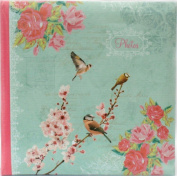 Vintage Bird Photo Album Slip Case For 104 Photos