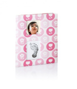 Pearhead Babybook Records and Moments with Footprint - Pink Flowers Girl