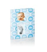 Pearhead Babybook Records and Moments with Footprint - Blue Cars Boy