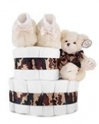 Dreamy Camouflage Couture 2-Tier Nappy Cake