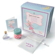 Tooth Fairy Kit includes Fairy Dust, Tooth Pouch, Treasure Box, & Story Booklet