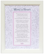 Mimi's Heart Keepsake Vintage Poetry Frame - Gift for New Baby (11x14)