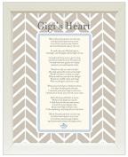 Gigi' Heart Keepsake Vintage Poetry Frame - Gift From New Baby (11x14)