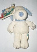 Peanuts Baby Snoopy BLUE Rattle Soft Doll