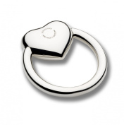 Cunill Heart Ring Baby Rattle, 5.1cm , Sterling Silver