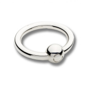 Cunill 150ml Single Ring/Ball Baby Rattle, 5.1cm , Sterling Silver