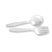 Sterling Silver Baby Spoon & Fork Set
