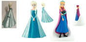 Disney Frozen Moulded Figure Coin Bank x 2 / 1- Elsa and 1 - Anna