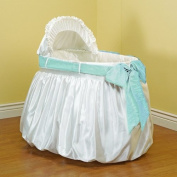 Baby Doll Shantung Bubble and Crushed Belt Bassinet Bedding, Blue