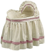 Baby Doll Baby King Brocade Bassinet Bedding Set, Pink