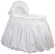 Baby Doll Pretty Ribbon Bassinet Bedding Set, White