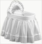 Baby Doll Regal Pique Bassinet Bedding, White