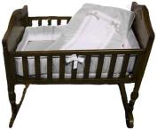 Baby Doll Royal Cradle Bedding Set, Grey