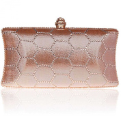 Kaxidy Clutch Evening Handbag Purse Diamante Ladies Crossbody Cocktail Wedding Clutch Purse Wallet