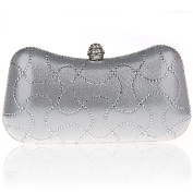 Kaxidy Fashion Clutch Bag Purse Wallet Crystals Rhinestones Handbag Party Purse Evening Prom Wedding Bag