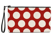 Snaptotes Red Polka Dot Wristlet Clutch Purse