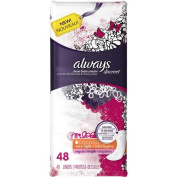 Always Discreet Incontinence Liners Very Light, Regular Length, 48 Count