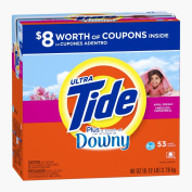 Tide Ultra Plus A Touch Of Downy He April Fresh Scent Powder Laundry Detergent 53 Loads 2900ml