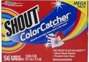 Shout Colour Catcher Washer Dye Trapping Sheet,56 Count Mega Pack