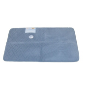 Tranquilly Luxurious Memory Foam Blue Bath Mat Skid Resistant Throw Rug 20x32