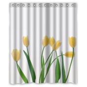 CozyBath Tulip Waterproof Polyester Fabric 150cm (w) x 180cm (h) Shower Curtain and Hooks