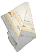 Stephan Baby Pieced and Embroidered Crib Quilt with Scripture, Fishers of Men