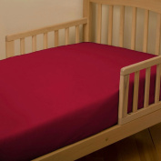 Solid Red Toddler Sheet Bottom Fitted