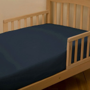 Solid Navy Toddler Sheet Bottom Fitted