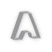 The American Cookie Cutter by Flavortools A Letter Cookie Cutter, 7.6cm , Set of 12