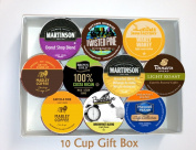 10 Cup LIGHT ROAST Coffee GIFT BOX Sampler! 10 Single Serve Cups. LIGHT Roast COFFEE! Perfect GIFT!