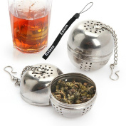 Estone® Multi-function Stainless Steel Tea Leaf Spice Ball Strainer Infuser Hook Kitchen